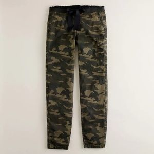 J. Crew City Fit Femme Delancey camo pants.